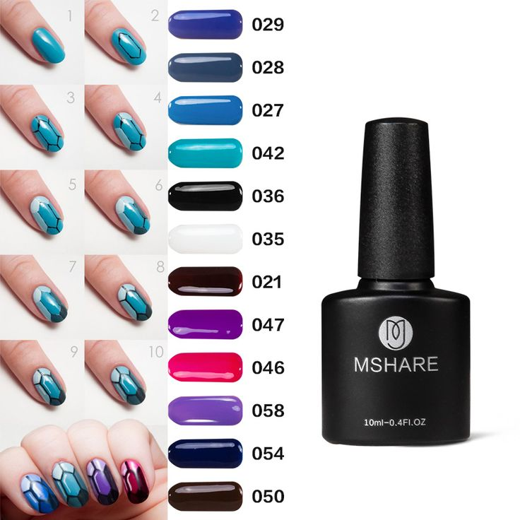 MSHARE Red and blu 10ML UV Nail Gel Polish Art Decoration Long Lasting German Material Lacquer Varnish Manicure