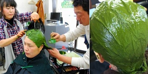 Το κομμωτήριο Ryu από το Κιότο της Ιαπωνίας είναι μόνο ένα από τα εκατοντάδες κομμωτήρια της Ιαπωνίας που προσφέρουν την υπηρεσία βαφής μαλλιών με πράσινο τσάι!