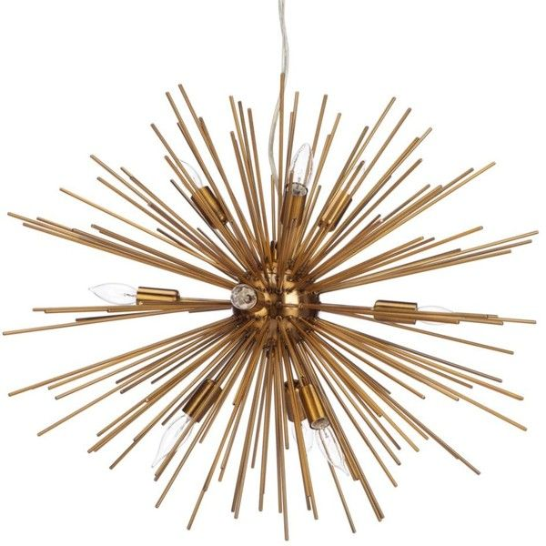 Z Gallerie Light Fixtures: Helios Chandelier Featuring Polyvore, Home, Lighting