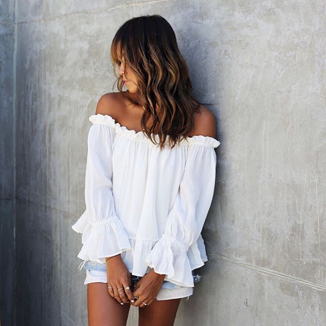 There is something about Mary! ✨ | Mary Bardot Top: shopsincerelyjules.com