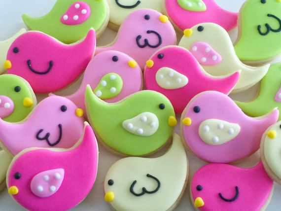 Chick Mini Sugar Cookies 2 dozen by acookiejar on Etsy