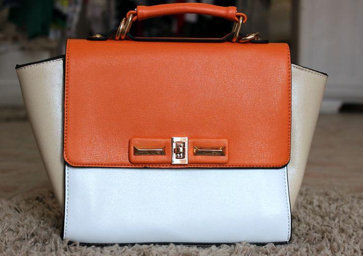Orange-beige bag