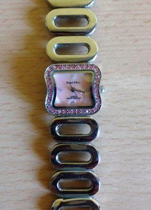 Kup mój przedmiot na #vintedpl http://www.vinted.pl/akcesoria/zegarki/18998169-zegarek-srebrny-z-cyrkoniami-ralph-klein