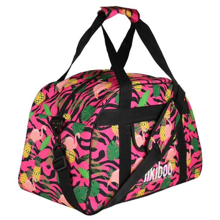 Tikiboo Pineapple & Flamingo Gym Bag £39.99 #Activewear #Gymwear #FitnessLeggings #Leggings #Tikiboo #Running #Yoga  #GymBag