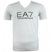 EA7 Emporio Armani Mens V-Neck T-Shirt AW10 White  For exclusive designer fashion at affordable prices visit www.hypedirect.com   | #bensherman #diesel #dunlop #designer #fashion #discount #mens #menswear #style #hypedirect #drmartens #emporioarmani #supra #converse #DCShoes #vans #hunter  #trainers #johnsmedley #bags #shirt #ea7emporioarmani #ea7 #puma