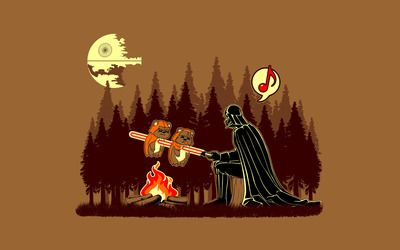 Darth Vader barbeque wallpaper