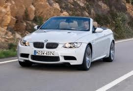 2009 BMW M3 Convertible (white) - No car seats allowed.