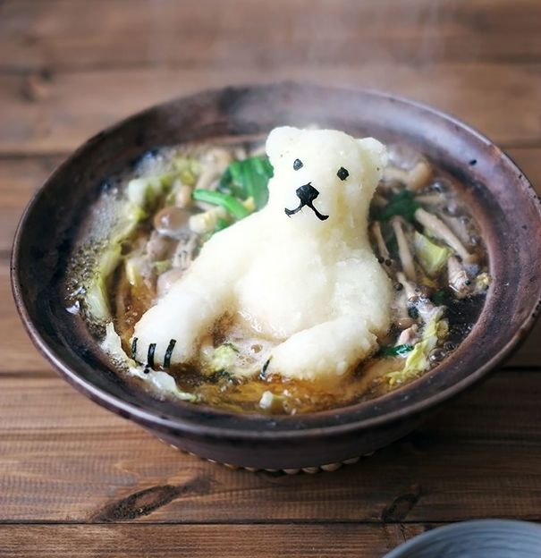 #13 Polar Bear Shaped Radish In Japanese Hot Pot