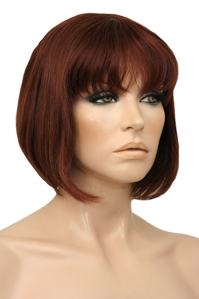 Jackie 100% Human Hair Wig.  A Timeless, Beautiful Classic Style Bob. The Jackie Features a Capless Design Making it Light Weight and Comfortable to Wear. The versatility of human hair gives you the option of styling with heat or colouring by a professional stylist. Available in many more  colours.  www.wigsonline.com.au