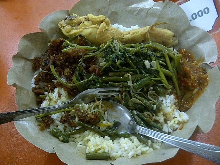 Nasi Pedes Ibu Andhika at Jl. Raya Kuta, Bali.