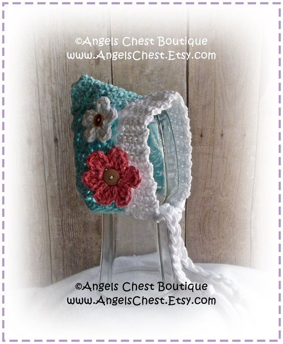Crochet PIXIE BONNET Hat PDF Pattern Sizes Newborn by AngelsChest