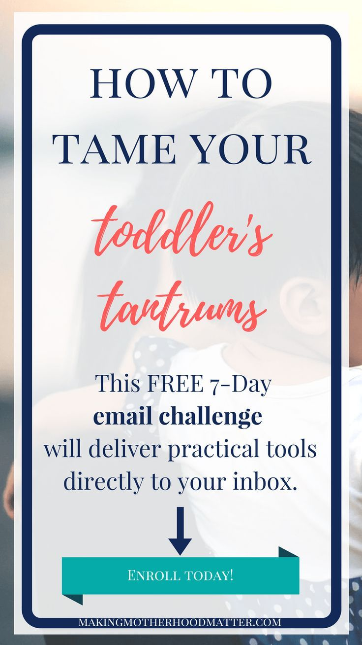 Tame your toddler's tantrums with this FREE 7-day email challenge. Each day, a powerful tantrum taming tool will be delivered straight to your inbox. Plus, gain access to a community of positive parents who are dealing with the same parenting challenges. Click the link to enroll today.