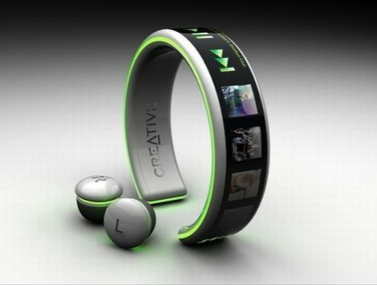 Blue tooth mp3 & cell phone bracelet. Kwel concept