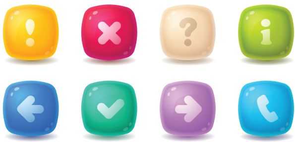 Candy Bubble Buttons