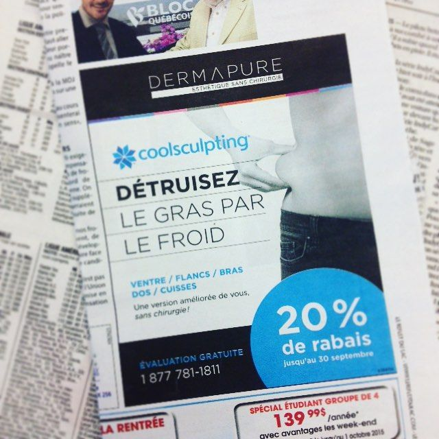 Dermapure / publicité journal