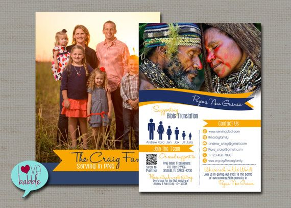 30 best Missionary Prayer Card Designs images on Pinterest | Card ...