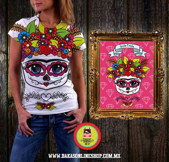 Women's T Shirt Playera T-shirt Frida Kahlo by bakasonlineshop