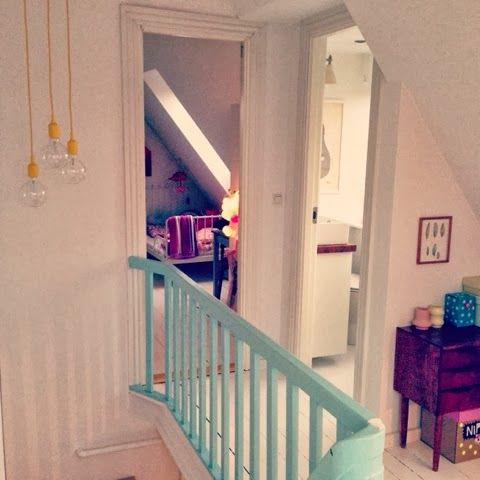 painting the banister a different colour