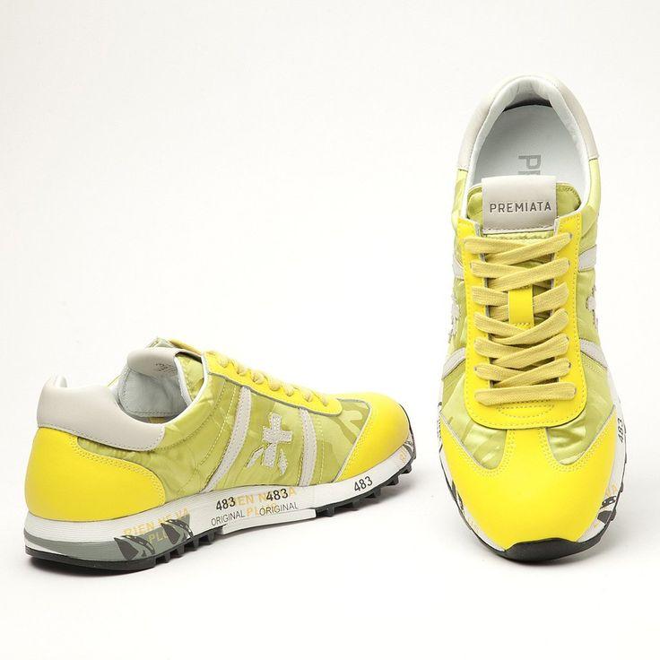 #premiata #women #new #yellow #sneakers #lucy-d #sporty #style www.shop.jofre.eu