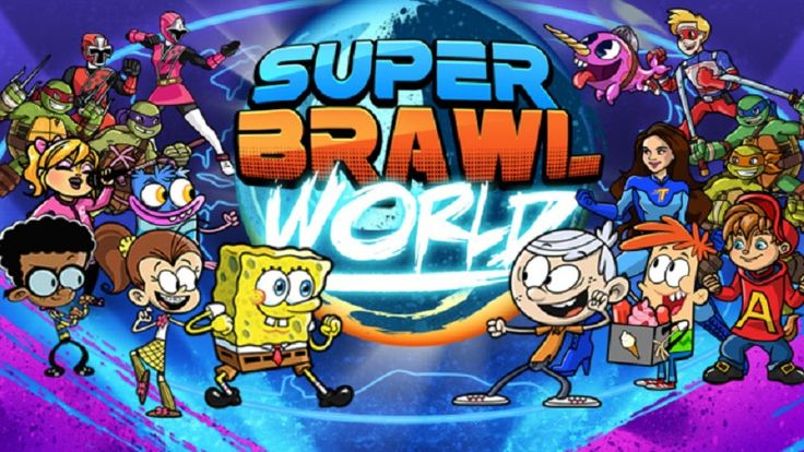 Super Brawl World, is back and better than ever with more brawls, more costumes, more tournaments and more fun than ever before! You have to choose your favorite character and get to brawling! Choose from SpongeBob SquarePants, the Teenage Mutant Ninja Turtles, Henry Danger, Sky Whale from Game Shakers, Lincoln Loud from The Loud House, Olly from Welcome to the Wayne or one of the Power Rangers Ninja Steel rangers!