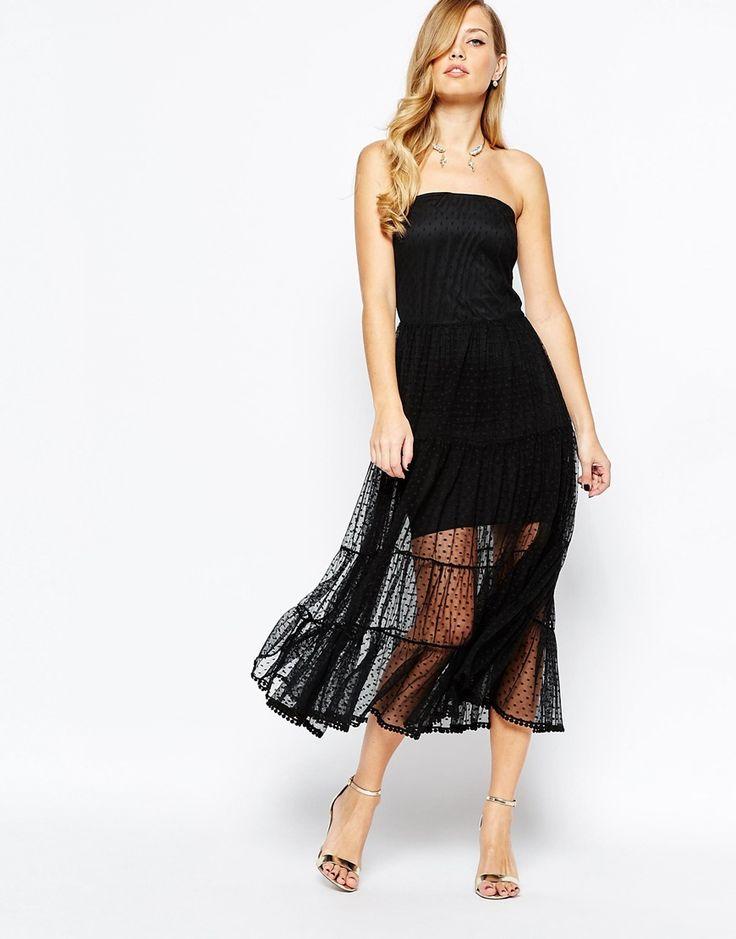 Body Frock Emma Strapless Dress in Black