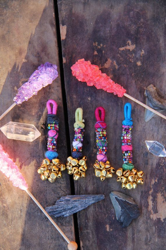 Mini Bell Swag Multi-Colored Camel Swag Charm by WomanShopsWorld
