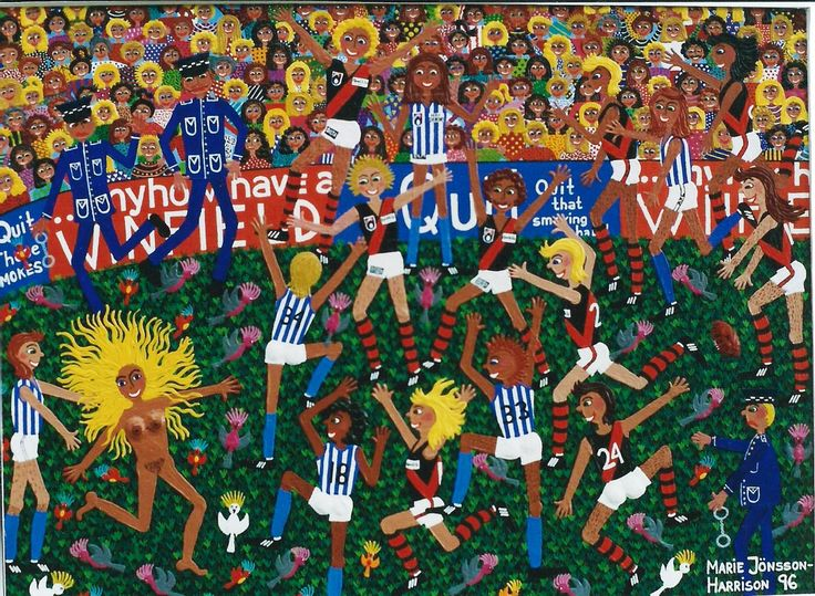 Tv Programme today in South Australia #Football, #AFL #painting