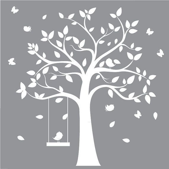 Childrens Tree Decal Vinyl Wall Decals Children by ModernWallDecal, $125.00