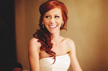 And I'm now officially growing my hair back out. I want my long, pretty red hair back!