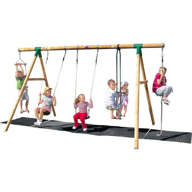 Buy Plum Orang-Utan Wooden Garden Swing Set at Argos.co.uk - Your Online Shop for Swings, Swings, slides and climbing frames, Outdoor toys, Toys.
