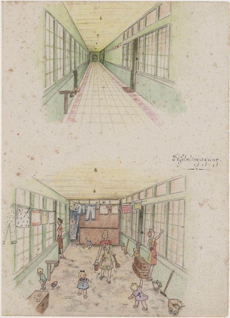 Hallway by Joke Broekema, 1942-1945. Museon, CC BY