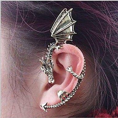 Polsini dell'orecchio di modo (forma del drago) lega (oro, argento) (1 Pc)   – EUR € 2.99