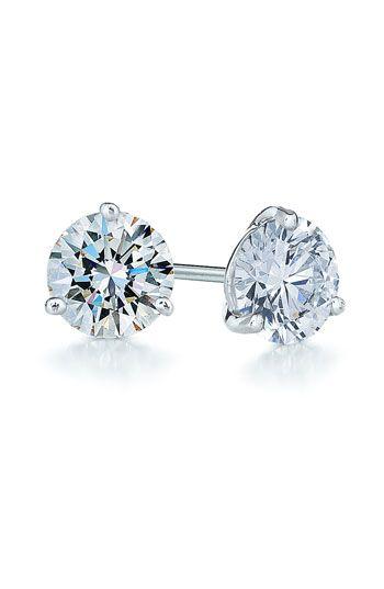 diamond & platinum stud earrings
