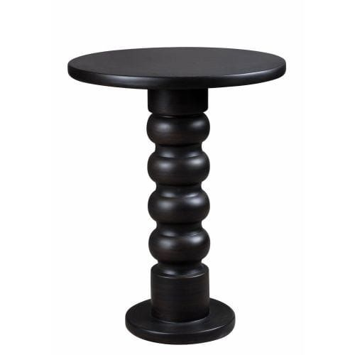 Kenroy Home 65060 Chimney 24.5 Tall Accent Table, Satin Bronze