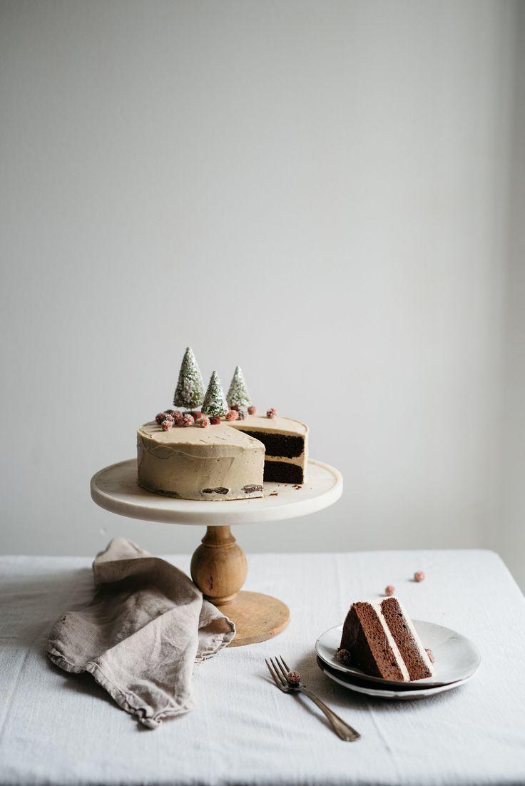 Molly's Chocolate Tahini Cake w/ Tahini Frosting | dolly and oatmeal