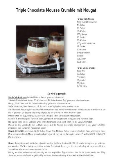 Triple Chocolate Mousse Crumble mit Nougat-001
