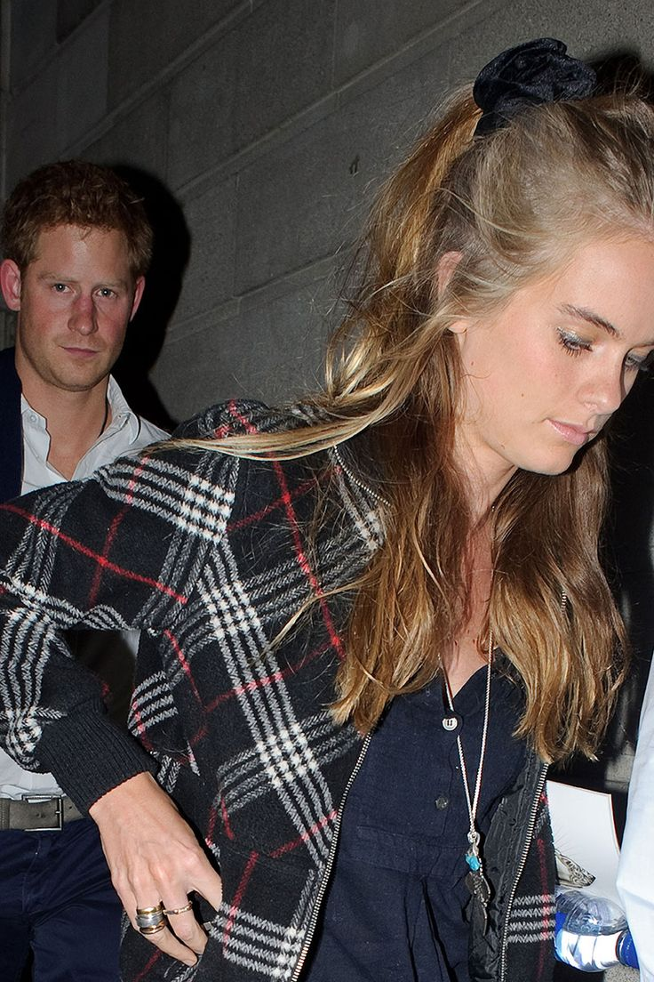 Cressida Bonas Prince Harry's girlfriend rocks scrunchies at the Glastonbury Festival and also on date night.