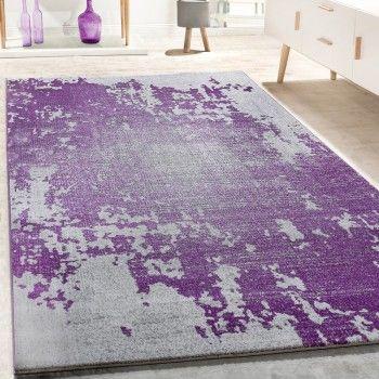 Unser neuer Designer Teppich im trendigen Vintage-Style, mit den Farben Grau & Lila