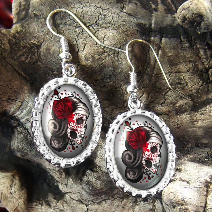 dia de los muertos | Day of the Dead Dia De Los Muertos Tattoo Skull Platinum Silver ...