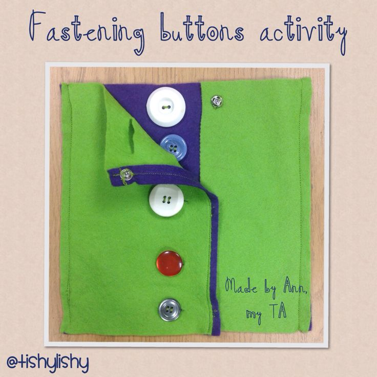 Fastening buttons fine motor control task. #fine motor control #independence