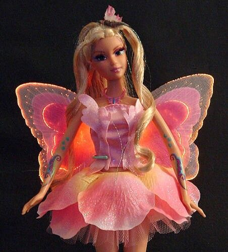 Barbie fairytopia with light in its wings