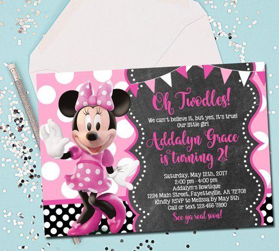 twodles birthday invitation