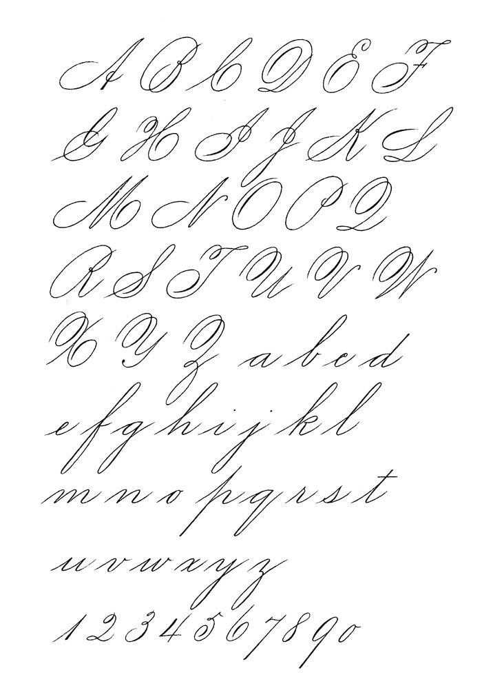 Exemplars-spencerian ladies hand