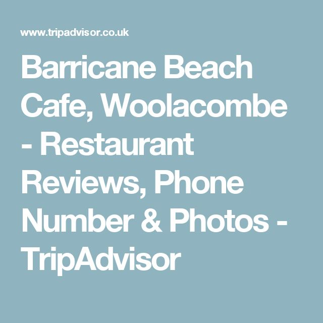 Barricane Beach Cafe, Woolacombe - Restaurant Reviews, Phone Number & Photos - TripAdvisor