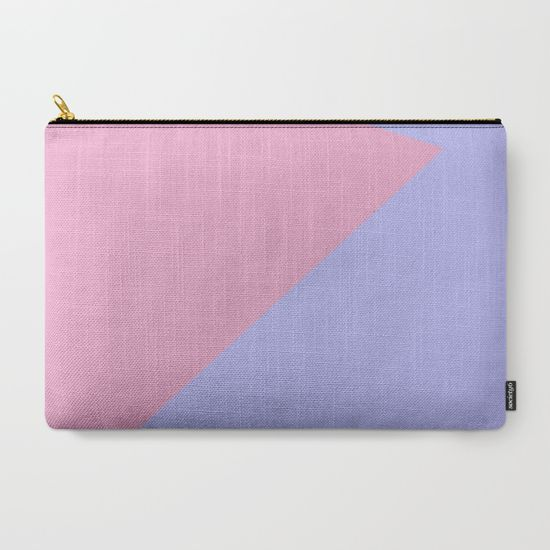 Blue Sky and Pink Roses Carry-All Pouch by Bravely Optimistic | Society6