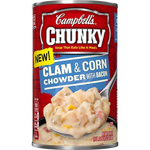 Campbells Chunky Soup Clam  Corn Chowder with Bacon 188 Ounce Pack of 12 *** Details can be found by clicking on the image.