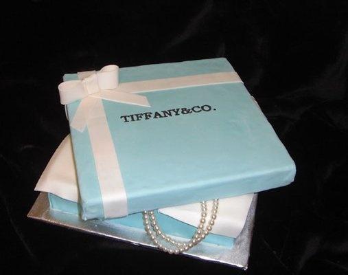 Tiffany Box Bridal Shower Cake