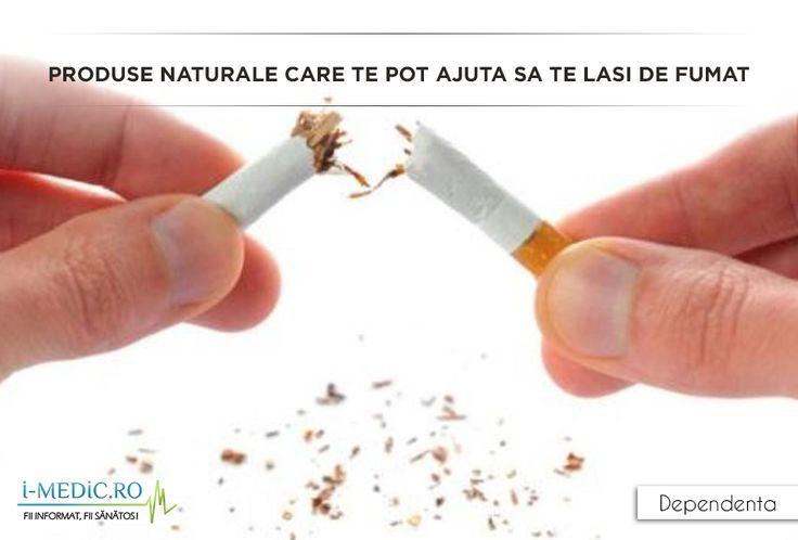 Renuntarea la fumat este o lupta grea . Sa renunti la un viciu dupa ani buni iti trebuie multa vointa si sutinere din partea celor de langa tine. Pe langa metodele recomandate de medic, poti renunta la fumat si cu ajutorul alimentelor. Sunt alimente care te ajuta sa nu mai vrei sa fumezi. http://www.i-medic.ro/blog/produse-naturale-care-te-pot-ajuta-sa-te-lasi-de-fumat