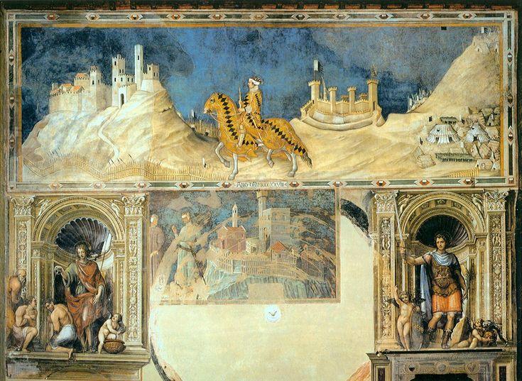 Симоне Мартини - Конный портрет Гвидориччо да Фольяно