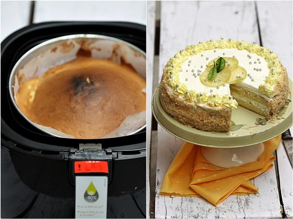 Lime 'n Lemon Quark Cream Cake     *The Philips AirFryer is an oven.the cake was ready in 15 minutes. The AirFryer behaves like a fan forced oven.*